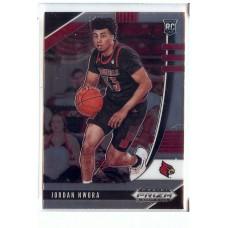 2020-21 Prizm Draft Picks Jordan Nwora #38 Base Rookie Louisville Cardinals/Milwaukee Bucks