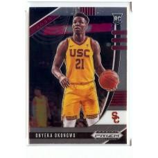 2020-21 Prizm Draft Picks Onyeka Okongwu #45 Base Rookie USC Trojans/Atlanta Hawks