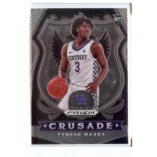 2020-21 Prizm Draft Picks Tyrese Maxey #94 Crusade Kentucky Wildcats/Philadelphia 76ers