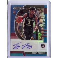 2020-21 Prizm Draft Picks Trent Forrest #85 Prospect Autographs Blue /149 Florida State Seminoles/Utah Jazz