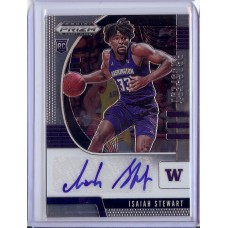 2020-21 Prizm Draft Picks Isaiah Stewart #26 Prospect Autographs Washington Huskies/Detroit Pistons