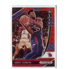 2020-21 Prizm Draft Picks Udoka Azubuike #71 Base Rookie Prizms Ruby Wave Kansas Jayhawks/Utah Jazz