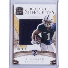 2020 Crown Royale KJ Hamler #15 Collegiate Silhouettes 068/199 Penn State Nittany Lions/Denver Broncos