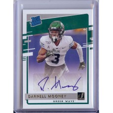 2020 Donruss Darnell Mooney Rated Rookies Draft Picks Signatures #11 Tulane Green Wave/Chicago Bears