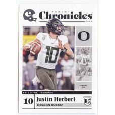 2020 Chronicles Justin Herbert Draft Picks #5 Oregon Ducks/Los Angeles Chargers