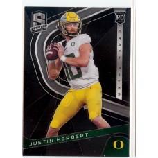 2020 Spectra Justin Herbert Draft Picks #4 Oregon Ducks/Los Angeles Chargers